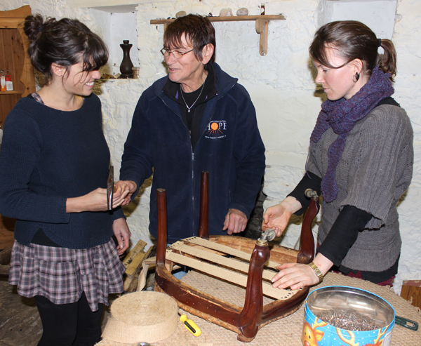 Weekend courses, upholstery courses, antique restoration course