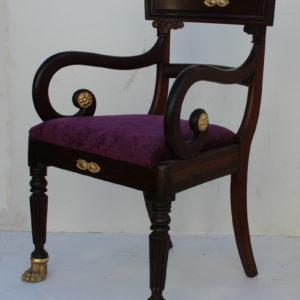 regency mahogany carver