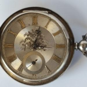 Robert Moir Silver fuse lever pocket watch
