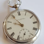 Cowper silver pocket watch