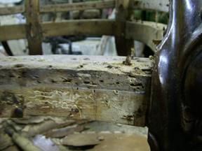 Victorian upholstered armchair restoration