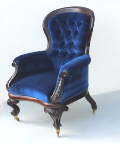 Rosewood armchair, William IV armchair, upholstered armchair, antique Irish armchair, Irish