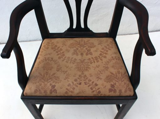 Antique chair sales, Country Chippendale carver, 18th century chair