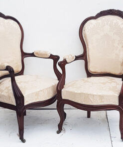 French mahogany salon chairs