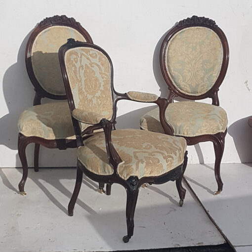 French Rosewood open armchair