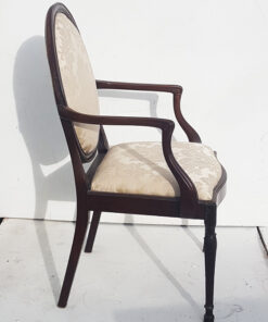Hepplewhite French style open arm chair