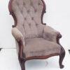Victorian deep buttoned armchair