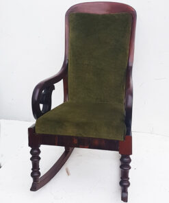 Victorian mahogany rocking chair