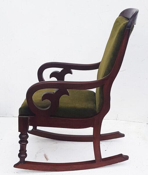 Victorian mahogany rocking chair
